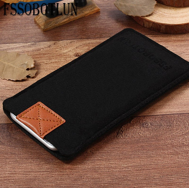 FSSOBOTLUN,3Colors,For Huawei Enjoy 6 Phone Case Protector Pouch Protective Cover Handmade Wool Felt Sleeve Pocket