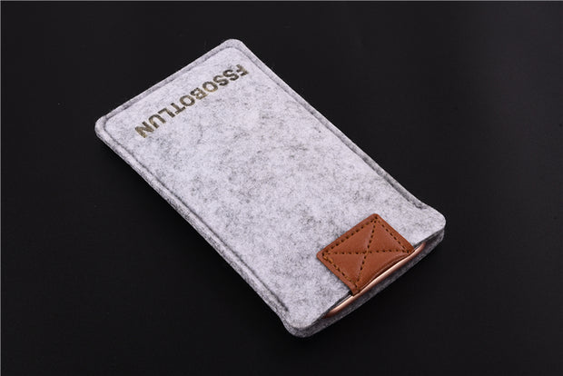FSSOBOTLUN,3Colors,For Huawei Enjoy 7 Pocket Case Bag Protector Pouch Protective Cover Handmade Wool Felt Sleeve