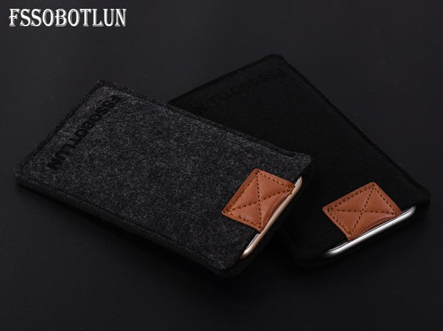 FSSOBOTLUN,3Colors,For Huawei Honor 5A Play Phone Case Protector Pouch Protective Cover Handmade Wool Felt Sleeve Pocket
