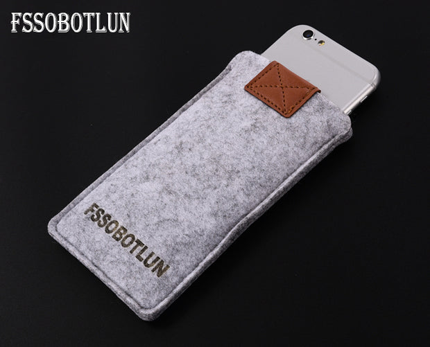 FSSOBOTLUN,3Colors,For Huawei Honor Magic Phone Case Protector Pouch Protective Cover Handmade Wool Felt Sleeve Pocket