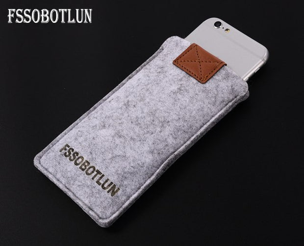 FSSOBOTLUN,3Colors,For Huawei Honor V8 Phone Case Protector Pouch Protective Cover Handmade Wool Felt Sleeve Pocket