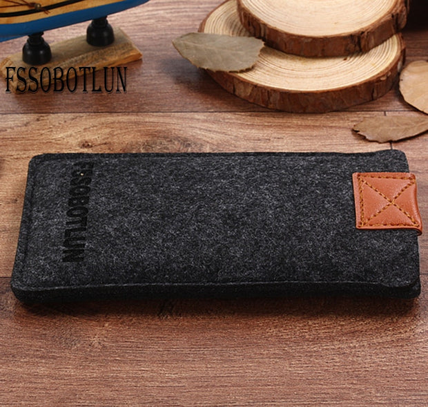 FSSOBOTLUN,3Colors,For Huawei Honor View 10 Pocket Case Bag Protector Pouch Protective Phone Cover Handmade Wool Felt Sleeve