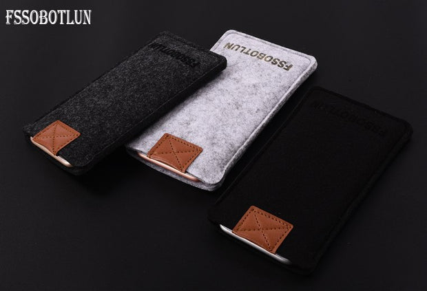 "FSSOBOTLUN,3Colors,For Huawei Nova Lite Plus 5.5"" Phone Case Protector Pouch Protective Cover Handmade Wool Felt Sleeve Pocket"