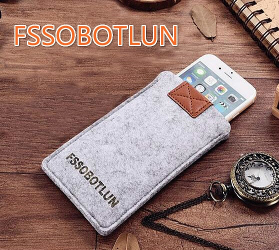 "FSSOBOTLUN,3Colors,For Huawei Y6 2017 5.0"" Phone Case Protector Pouch Protective Cover Handmade Wool Felt Sleeve Pocket"
