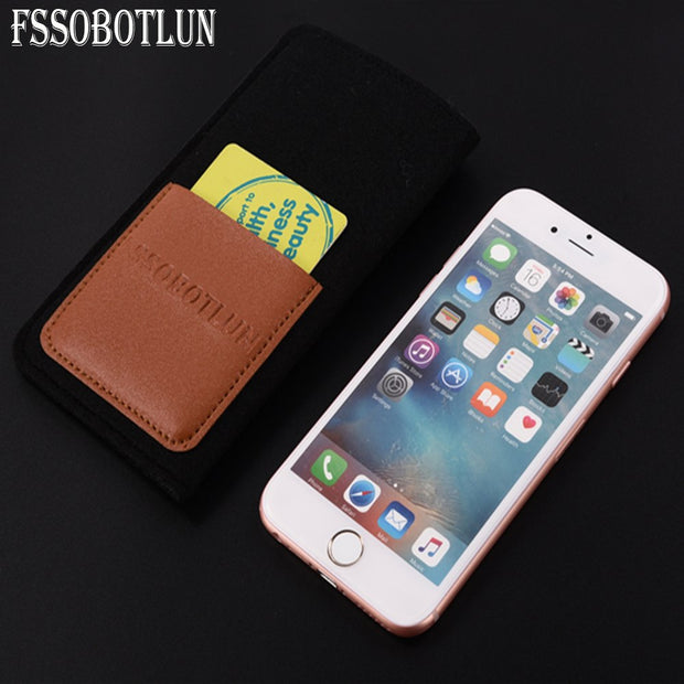 FSSOBOTLUN,6 Styles For Huawei Honor View 10/Mate 10 Pro/Ascend XT2 Pouch  Bag Protector Sleeve Handmade Wool Felt Cover Sleeve