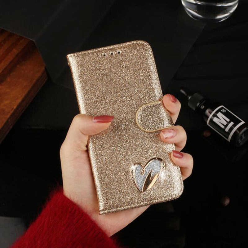 For Funda Samsung Galaxy A6 A8 J6 2018 Case Flip Leather Wallet Rhinestone Glitter Phone Cases For Samsung S9 S8 Plus A3 A5 2017