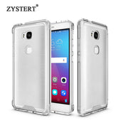 For Huawei Honor 5X Skid Resistance Hybrid Transparent Armor Acrylic+TPU Silicone Hard Case Shockproof Protect Back Cover