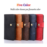 For Motorola Moto E5 Plus E5 Play Phone Flip Case Funda Vintage PU Leather Wallet Anti-Shock Full Body Phone Protector Skin Case