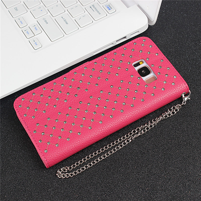 For Samsung Galaxy S8 Case Luxury Rhinestone PU Leather Back Cover For Samsung S8 Plus Case Flip Wallet Phone Bag For Samsung S8