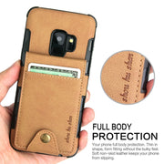 For Samsung Galaxy A3 A5 A7 2017 A8 Card Holder Case Note9 Canvas Flip Wallet Cover For Samsung Galaxy S9 S8 Plus Note 9 8 Cases