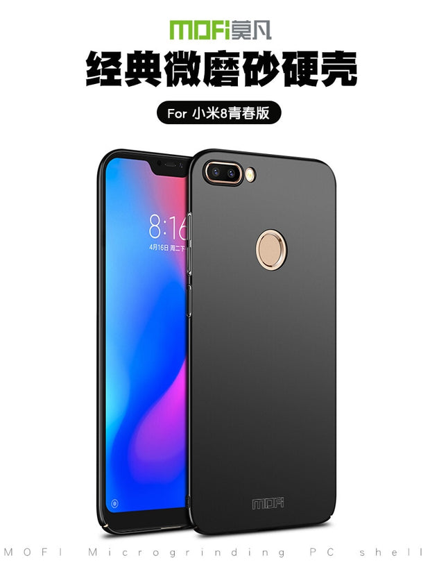 For Xiaomi Mi 8 Lite Original MOFi Classic Frosted PC Hard Back Protective Phone Case Cover For Xiaomi Mi8 Lite Plastic Case