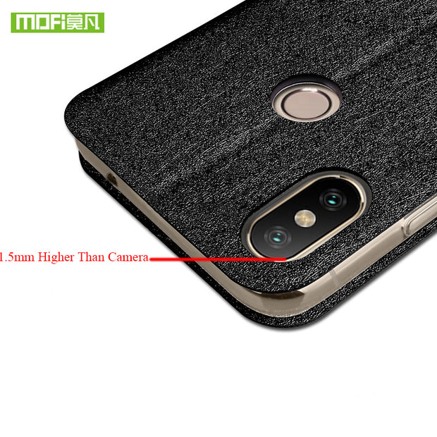 For Xiaomi Mi Max3 Case Flip Cover Fabric Protective Business Silicone Phone Case Coque MOFi Original Mi Max 3 Case