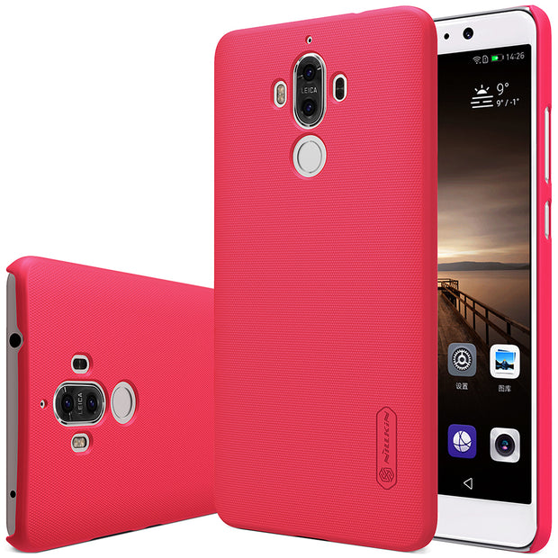 For Huawei Mate 9 Case NILLKIN Super Frosted PC Hard Plastic Back Cover With Screen Protector For Huawei Mate 9 Cover Phone Bags