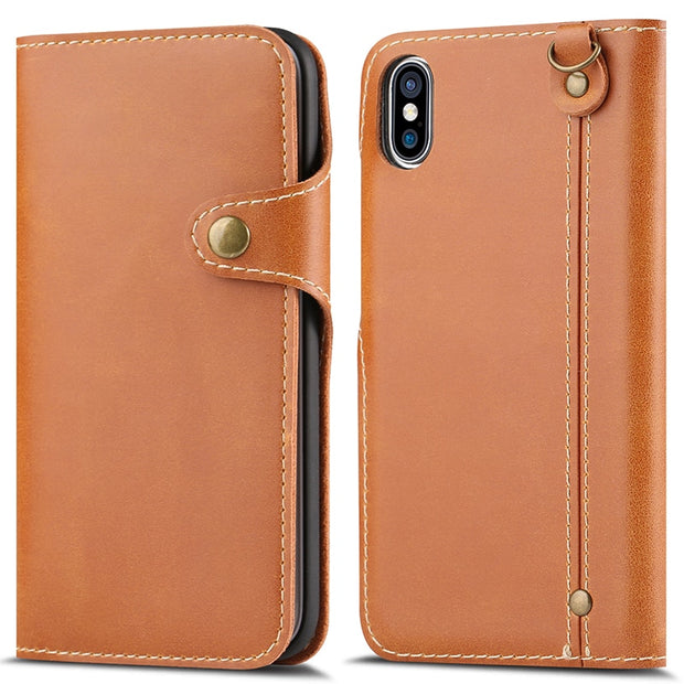 For IPhone 8 Case Luxury Flip Leather Phone Case For IPhone 6 6s 7 7 Plus 8 Plus Case With Card Slot For IPhone 7 Cover 6s Plus