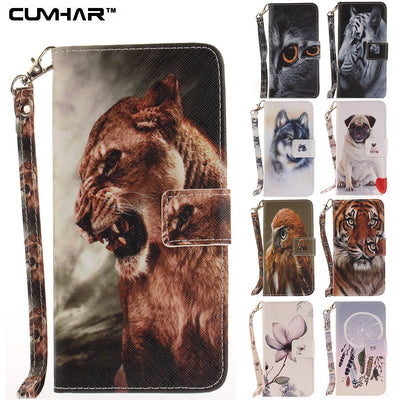 For IPhone X Case Black Cat Tiger Wolf Pug Leopard Monkey Magnolia Flip Wallet Leather For IPhone 5 5S SE 6 6S 7 8 Plus Cover