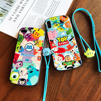 For Iphone XS Max Toy Story Shield Case, Cute Blue Ray Monsters Soft Cover For Iphone 8plus 8 X XR 6 6s 6sp 7 7P Cartoon Shell