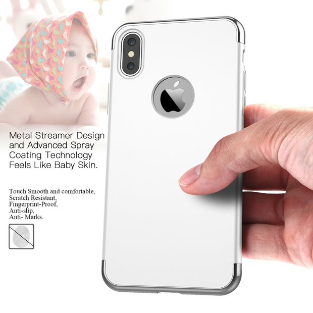 Grandever 3 In 1 Hybrid Cases For IPhone X Case Logo Bumper Lux Armor Ultra Thin Cover For IPhone 10 Case PC Hard Protective