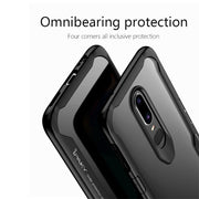 IPAKY Oneplus 6 Case A6000 Soft Silicone TPU +PC Transparent Clear Back Cover Armor Shockproof Anti Knock Case One Plus 6 1+6