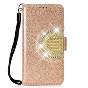 KEFO Shining Glitter Powder Case For Iphone Xs Max Card Pocket Mirror Wallet Cover For Iphone XR X 10 6 6S 7 8 Plus Flip Coque