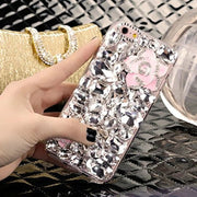 LaMaDiaa Bling Rhinestone Crystal Diamond Fox And Crown Soft Back Phone Case Cover For IPhone Xs Max 7 8 Plus 6 6s Plus 5 5S SE
