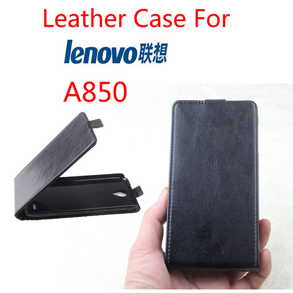 Leather Case For Lenovo A850+ A850 Plus Flip Cover Housing Case For Lenovo A850 + / A 850 + Phone Cases Covers Mobile Phone Bags