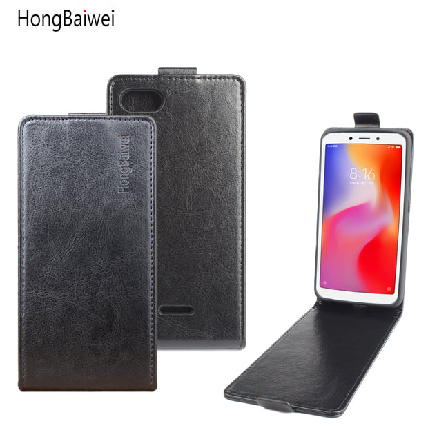 buy popular b36fc f842c Leather Case For Xiaomi Redmi 6A Flip Cover Housing For Xiomi Xiaomi Red Mi  6 A Mobile Phone Cases Cover Phone Bags Fundas Shell