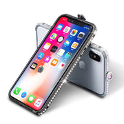 Luxury Glitter Bling Diamond Metal Bumper Frame For IPhone XS Max Case Glossy Jewelled Cover For IPhone 6 6s 7 8 Plus X XR XS