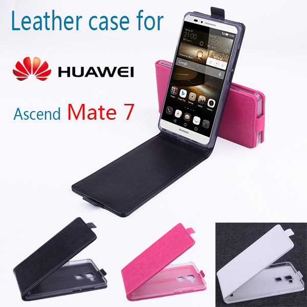 Luxury Leather Case For Huawei Mate 7 Flip Cover Housing Case For Huawei Mate7 Mobile Phone Cases Covers Phone Bags Fundas Shell