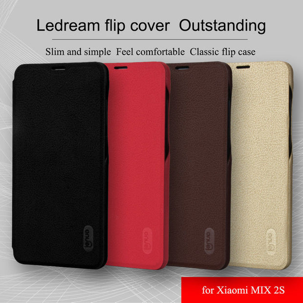 "Mix 2S Original Lenuo Case For Xiaomi Mi Mix 2S Mix2S Luxury Le-dream Soft Flip Leather Anti-knock Protection Cover 5.99"" 2018"