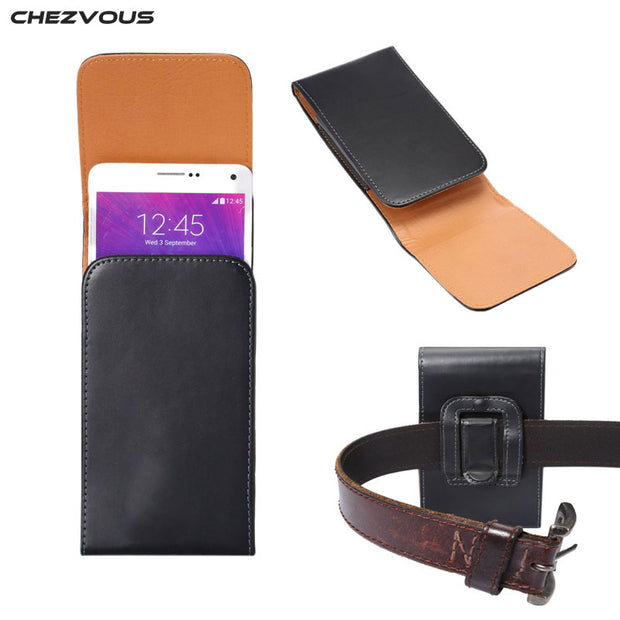 NEW Belt Clip PU Leather Holster Case For Samsung Note 5 4/S6 Edge+/Galaxy A8 Universal Fit For Below 5.7'' Cell Phone Cover