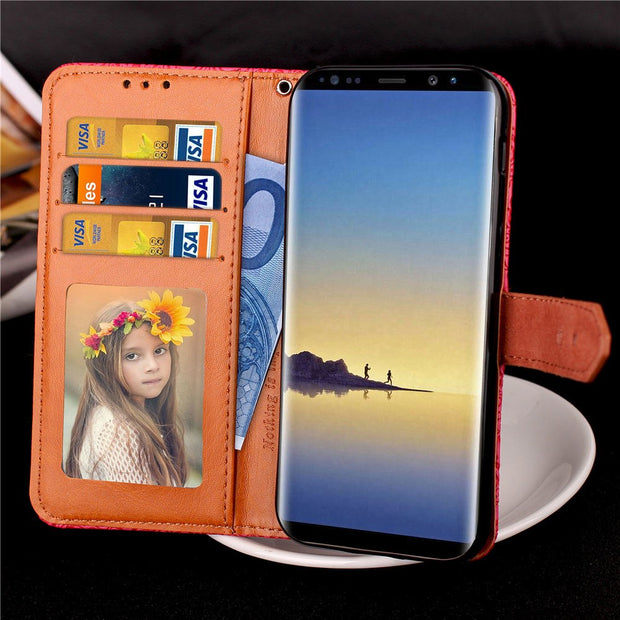 Note8 Medieval Retro Pattern Style Wallet Case For Samsung Galaxy Note 8 Covers Flip Leather Cases Black Cover For SM N950 N9500