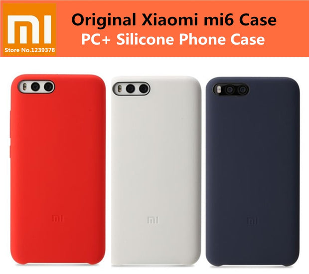 Official 100% Original Xiaomi Mi6 Case Cover For Xiaomi Mi 6 M6 Pro PC+ Silicone Case Back Cover For Xiaomi 6 5.15 Inch Coque