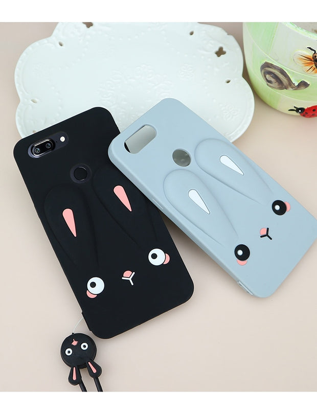 Oneplus 5T/oneplus5 Case Cute Rabbit Ear / Chick Silicone Phone Cover Case For OnePlus5T / 1+5T /oneplus 5 Cartoon Soft Fundas