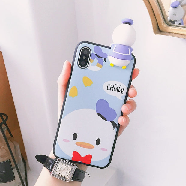 Oneplus 6T Cartoon Minnie Case One Plus 6 Cute 3D Mickey Mouse Phone Case For OnePlus 3 3T 1+5 5T Daisy Back Cover