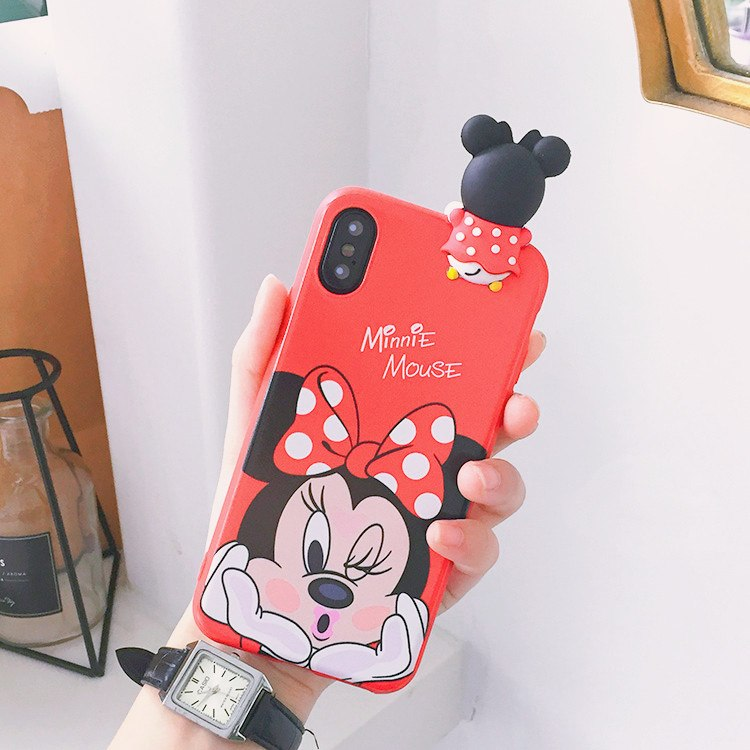 best cheap ff542 ee8eb Oneplus 6T Cartoon Minnie Case One Plus 6 Cute 3D Mickey Mouse Phone Case  For OnePlus 3 3T 1+5 5T Daisy Back Cover