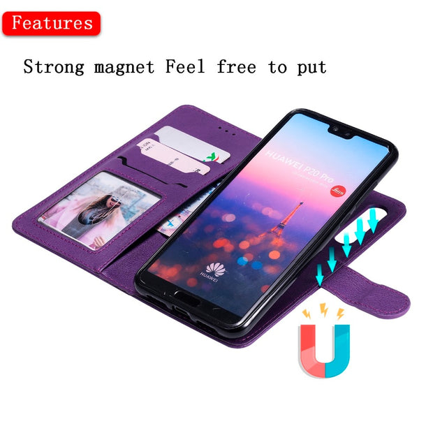 P20 Detachable 2 In 1 Series Flip Case For Huawei P20 Pro Card Slots Protection Phone Cover Kickstand Funda For Huawei P20