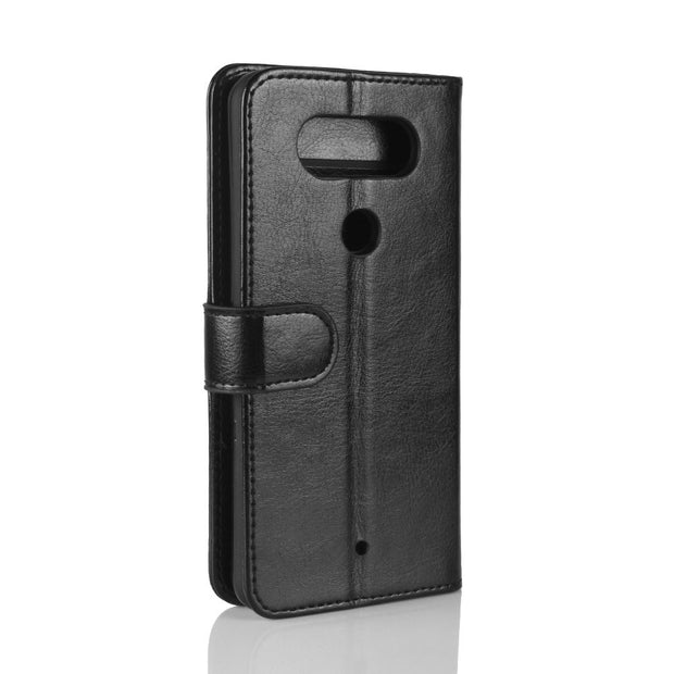 Q8 Case For LG Q8 Cases Wallet Card Stent Book Style Flip Leather Covers Protect Cover Black 8Q Q 8 For LG Q8Case