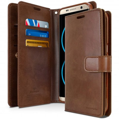 S8 / S8 Plus Diary Flip Wallet Function Case Original Goospery Brand Mansoor For Samsung Galaxy S8 / S8 Plus With Card Holders