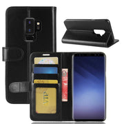 S9+ Case For Samsung Galaxy S9 Plus G9650 Cases Wallet Card Stent Book Style Flip Leather Covers Protect Cover Black SM S9plus