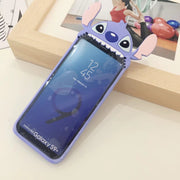 SAM S9 Plus Silicone Case , Anime 3D Cute Silicone Cartoon Stitch Back Cover Case For Samsung Note 8 / S9 / S9 Plus Fundas Capa