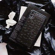 SUPERDOPE Luxury Brand Metal Stars Givency Phone Cover For IPhone 6s 7 8 Plus X Vintage Coque For IPhone XS XR MAX Hard Fundas