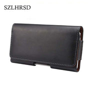 SZLHRSD Holster Genuine Leather Phone Case Belt Clip Case Cover Leather For Nokia 7 Oppo R11s Doopro P1 Pro P5 Pro P3 P2 Pro