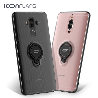 Shockproof Clear Case For Huawei Mate 8 9 9Pro Magnetic Ring Stand Cases On For Huawei P9 P10 Plus Cover For Honor 9 V9