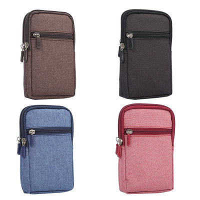 Sports Belt Clip Waist Wallet Mobile Phone Bag Pen Pouch Carabiner Pockets Outdoor Case For Samsung Galaxy J4 J3 J7 J2Pro (2018)