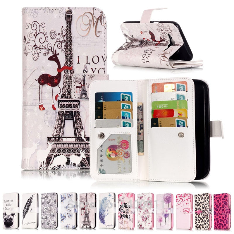 Stand Flip Leather Case For Samsung Galaxy J3 J5 2016 J310 J320 J510 J510F Cell Phone Cover Cases SFor Galaxy J7 2016 J710 Caque