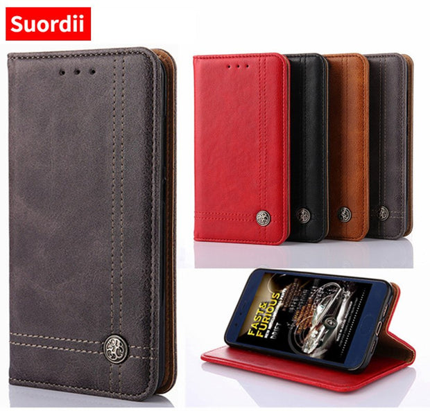 Suordii Fundas For Motorola Moto X4 Z2 Play C Plus Case Without Magnetic Wallet Cover For Motorola Moto C Plus X4 Flip Case