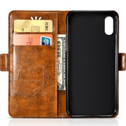 "Top Luxury Leather Case For Apple IPhone XS Max / A1921 A 1921 6.46"" With Card Slot Flip Cover Case Wallet Cellphone Housing"