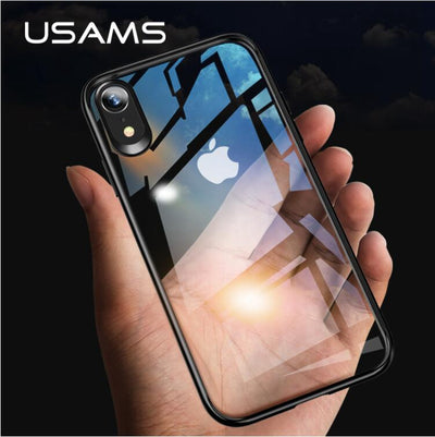 USAMS Mint Series Case For IPhone XR / Xs / For IPhone Xs Max Dual Protection TPU Frame + Clear PC Back Phone Cover