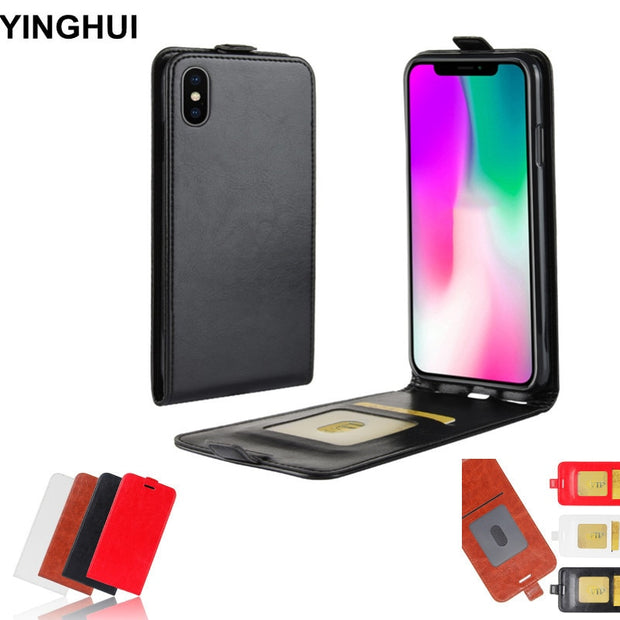 Vertical Flip Cover For IPhone XR Case 6.1 Inch Phone Cases PU Leather Case Coque Capa For IPhone XR Cover Black Brown Red White