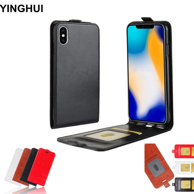 Vertical Flip Cover For IPhone XS Max Case 6.5 Inch Phone Cases PU Leather Case For IPhone XS Max Cover Black Brown Red White